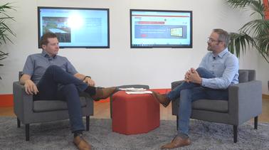 Informierte die URANO-Mitarbeiter im Video-Talk über die Bilanz im ersten Halbjahr: URANO-Geschäftsführer und COO Sebastian Schmalenbach (links) mit Marketing-Leiter Stephan Brust.