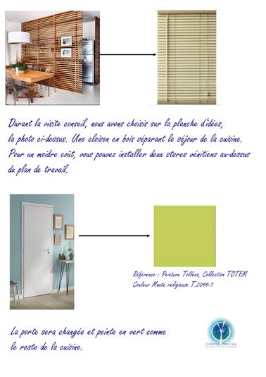 Une rénovation partielle de la pièce à vivre par l'apport de couleur, de matériaux en bois pour un style Jungle, 41 Villedieu , Isabelle Mourcely, décoratrice UFDI 37, Tours 37000 Chinon37500