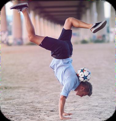 Ricardo Rehländer Fußball Freestyle Handstand