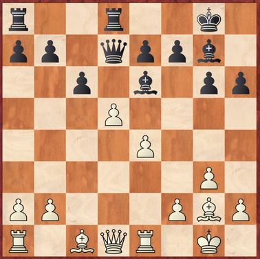 Lehmann - Gottas: Holger spielt hier das zu aggressive 15.Lxh6?! wonach Schwarz mit Lxh6 16.dxe6 Dxe6 17.Df3 Td2! in Vorteil kommt.