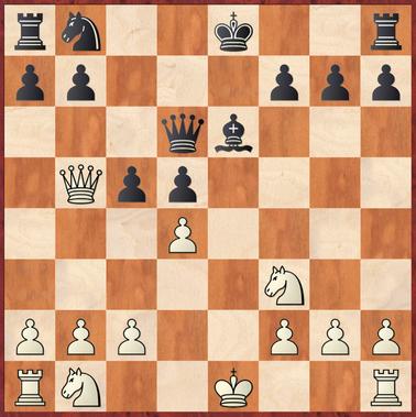 Baumgarten - Sebastian: Schwarz hätte hier mit 11. ... Sd7! den Laden zusammenhalten können - 12.Dxb7 endet nach Tb8 13.Dxa7 Lg4 14.Sbd2 0-0 in einer unklaren aber guten Stellung für Schwarz