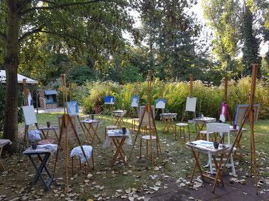 Kindergeburtstage-im-Atelier-Marion-Haas-Malkurse-Kunstkurse-Maltherapie-Kunsttherapie-Kreativer-Kindergeburtstag-Marion-Haas-Malen-Collagen-Rheingau-Walluf-Eltville-Hessen-Deutschland-