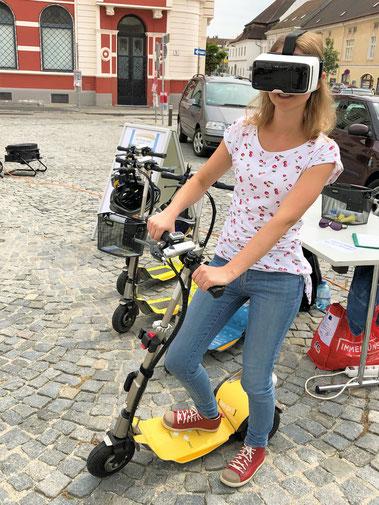 Der VR-Ride für Firmenevents und Feiern in der Wachau auf e-scooter und e-mobility events. Erlebnis und Freizeit Tipp für die ganze Familie und Seminargruppen in Niederösterreich.