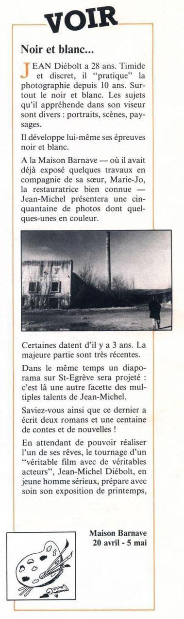 EXPO PHOTO en avril - mai 1985