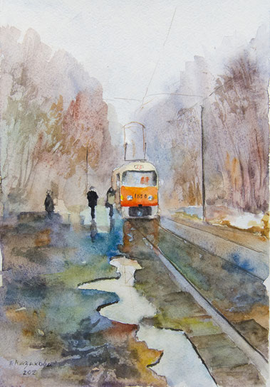 Татьяна Казакова. Трамвай. 2021