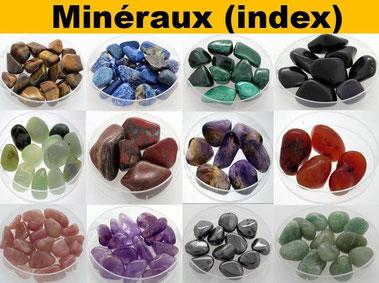 Minéraux index - Lithothérapie - Casa bien-être.fr