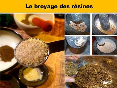 Le broyage des résines  - Boutique d'encens naturel - Casa bien-être.fr