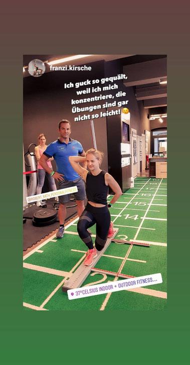 Franzi Kirschner Robert Rath Personaltaining 37Grad Celsius Rosenheim Training Fitness Sport Trainer