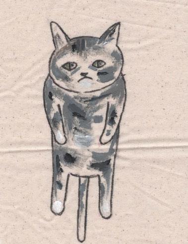 猫・猫グッズ・猫イラスト・キジ白