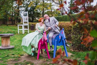 Hochzeit mit Daniela und Michael im Schlosspark Lampertswalde.