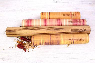 mattarello zeigt kreatives buntes Sortiment