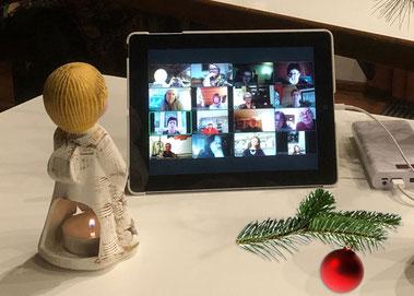 Virtuelle Weihnachtsfeier der Rainbow Singers