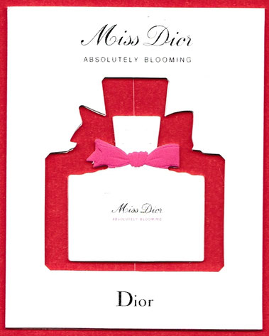 MISS DIOR - ABSOLUTELY BLOOMING : CARTE AMOVIBLE
