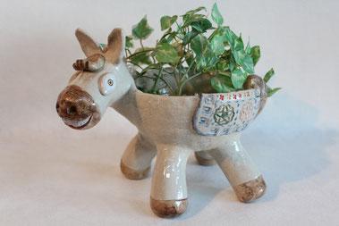 ロバの植木鉢