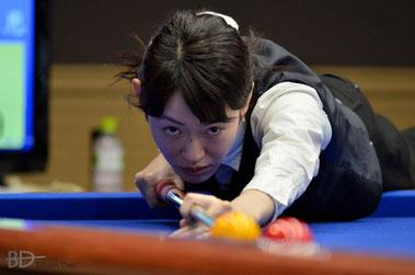 肥田緒里恵。先日の全日本選手権の最終予選ラウンドにて