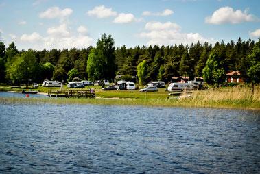 Unser Camping liegt traumhaft am Daläven