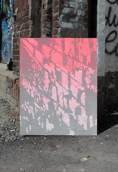 O.T. / 2020 / Gips / Vinyl / Lack / Leinen / 95 x 75 cm