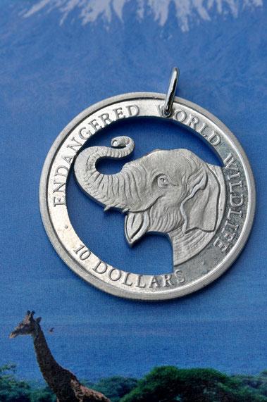 Münzsagewerk Katrin Thull | Cook Inseln - lachender Elefant