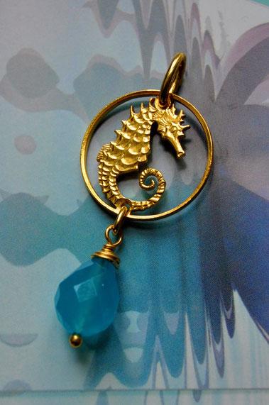 Münzsägewerk Katrin Thull | Singapur - Seepferdchen mit Stein