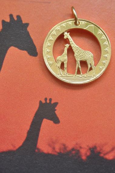 Münzsägewerk Katrin Thull | Südsudan - Giraffen