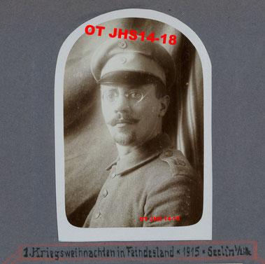 Ernst KOPP en 1915 lors de son séjour à Seclin - Propriété exclusive : OT JHS14-18 (Reproduction et copie interdites)