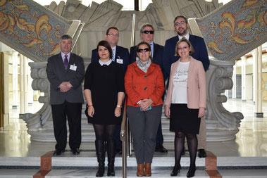 Diputados del PP con la Pta. de CERMI y el Dtor. Territorial de la ONCE