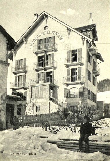 A modern hotel / pension - with 50 beds - was built so the village could keep up with the touristic development and the economic success