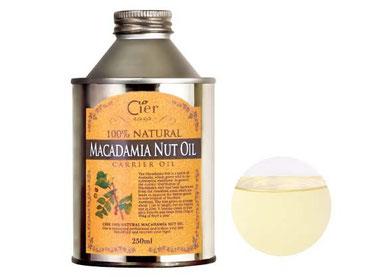 これがタンポポで使うマカデミアナッツオイルです(100%天然植物から抽出した上質のオイル感をお試しください)