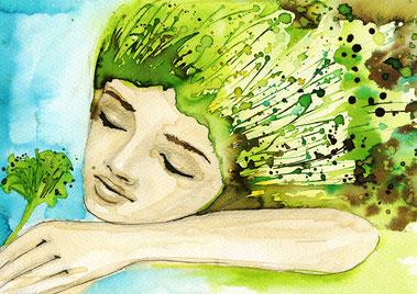 Entspannung Urvertrauen Verbindung zur Natur Frau Weiblichkeit