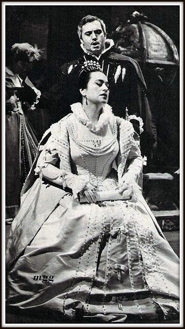 Rodrigo Marchese di Posa - DON CARLO - con Leyla Gencer (Elisabetta)   Milano Teatro alla Scala 12.12.1963