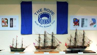 ザ・ロープ展会場の会旗