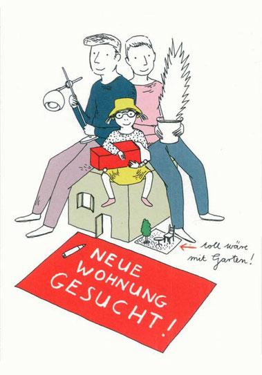 Heike Herold, Illustration, Anzeige, Postkarte