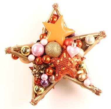 stern, rosa, weiß, türschmuck, fensterschmuck, dekostern, handgemacht, weihnachtsdeko, adventsdeko, türkranz, india-style, tür kranz