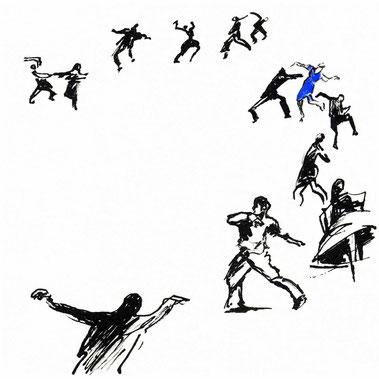 Laurence Briat. Illustration pour Au Mistral, de Frédéric Nietzsche