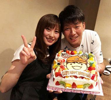 広島大瀬良と浅田真由さん