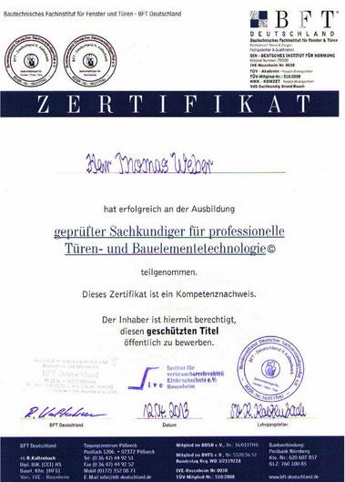 geprüfter Sachkundiger für profiessionelle Bauelementetechnologie