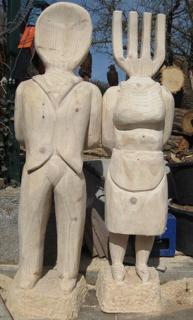Kellner und Kellnerin 180cm