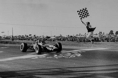 Jim Clark in de F1 op circuitpark Zandvoort