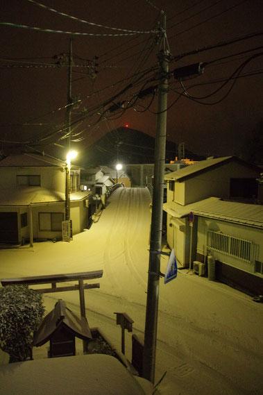 隠岐の島 京見屋分店 冬 西町 雪景色 夜