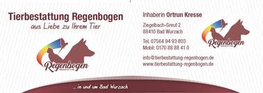 Tierbestattung Rehenbogen Ortrun Kresse Bad Wurzach