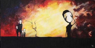 """Ivanov Ivan, """"Alleine"""", Öl auf Leinwand, 50 x 100 cm, 2012, gerahmt"""