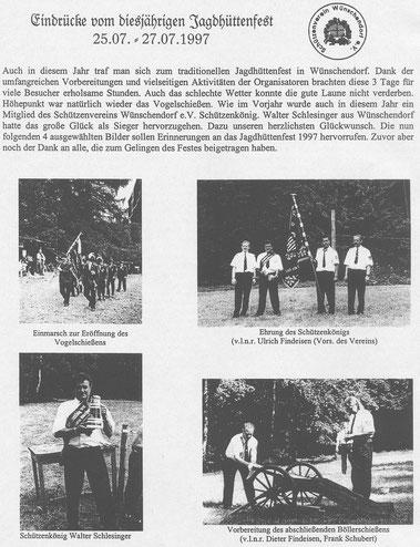 Bild: Wünschendorf Erzgebirge Jagdhüttenfest 1997