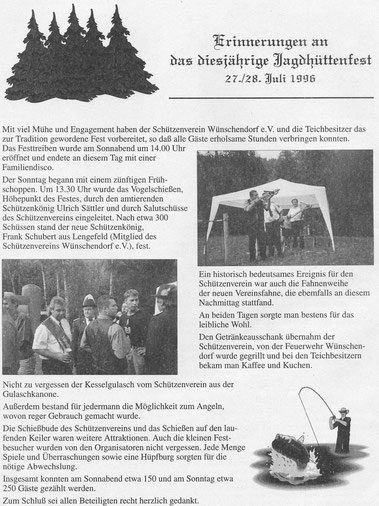Bild: Wünschendorf Erzgebirge Jagdhüttenfest 1996