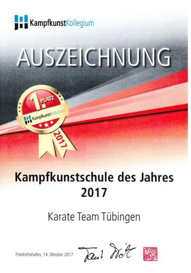 Ausgezeichnete Karateschule Tübingen