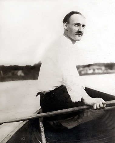 1925 - Kenneth on the Saint-Charles River, Quebec, Canada. Photo courtesy of Anne Ross. Image edited by Anthony Zois