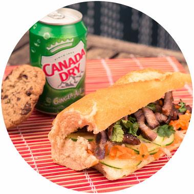 Sandwich Banh mi au porc laqué : maintenant à Grenoble
