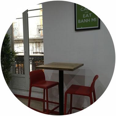 L'étage de notre restaurant vietnamien à Grenoble