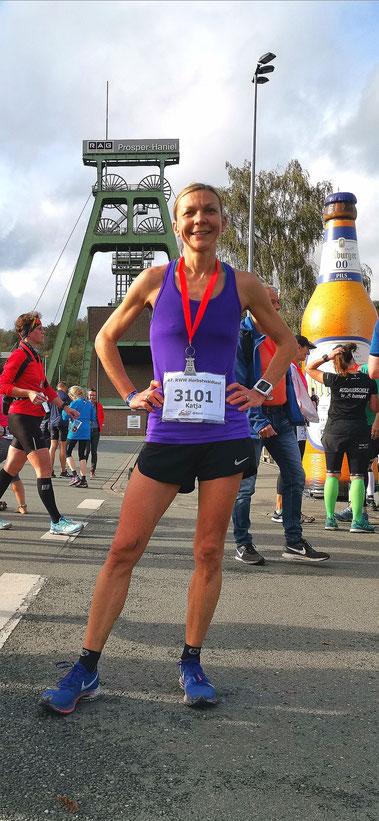 Katja nach dem Sieg über 50km