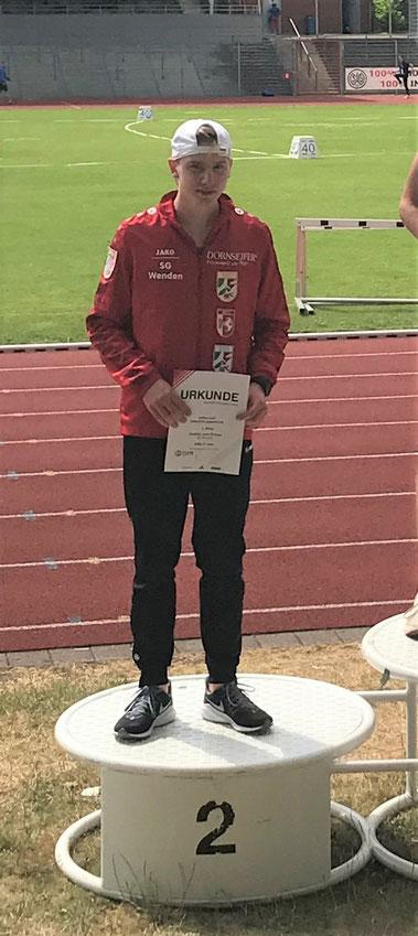 Frederik Wehner wird Zweiter bei den westfälischen Meisterschaften