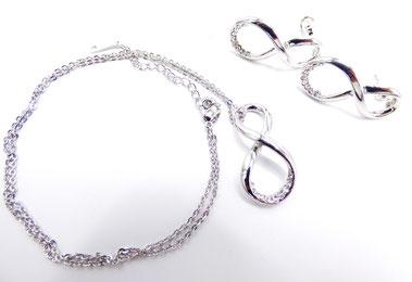bijoux parure femme infini argent